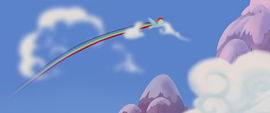 Rainbow Dash flying through the sky MLPTM