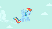 Rainbow Dash in the clear sky S4E23