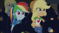 Rainbow and AJ looking at the stage CYOE2c.png
