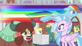 Rainbow zooming over Yona and Silverstream S8E9.png