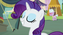 Rarity grinning with delight S7E19