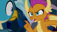 "Smolder ""you never saw any of that"" S8E22"