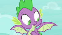 Spike looking at his wings again S8E11
