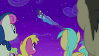 Trixie goes flying over the crowd S6E6