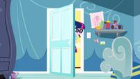 Twilight closing Rainbow Dash's bedroom door SS12