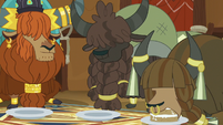 Yaks eating vanilla yak cake in yak eating hut S7E11