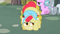 Apple Bloom hiding behind beehive S2E12.png