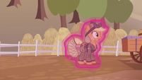 Applejack about to get dragged away S5E25