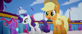 Applejack asks about Twilight's meeting MLPTM