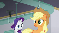 Applejack looking suspicious S6E10