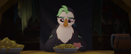 Captain Celaeno eating a bowl of slop MLPTM