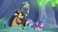 Discord, Starlight, and Trixie enter the hive S6E25