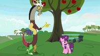 Discord snaps fingers at Sugar Belle S9E23