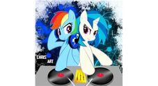 FANMADE DJ Pon-3 and Rainbow Dash