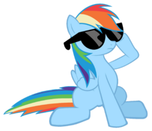 FANMADE Rainbow Dash in sunglasses