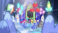 Mane Six look at their floating cutie marks S8E15