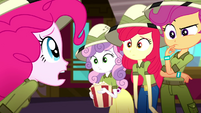Pinkie asks the CMC if they've seen Gummy SS11