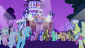 Ponies gather around the runway for the contest S7E9.png