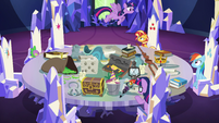 Princess Twilight flies to other side of table EGSB