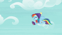 Rainbow Dash flying through the sky MLPBGE