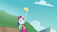 Rainbow Dash serving the volleyball EGFF