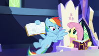 Rainbow Dash shows off her Daring Don't page S7E14