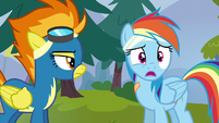 Rainbow Dash stammers in surprise S6E7