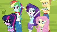 "Rarity ""modeled by my classmates"" EG4"