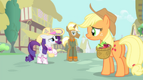 Rarity 'of hauling apples inspired me' S4E13