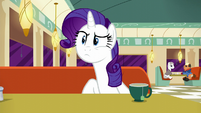 Rarity stops as Lede starts talking again S6E9