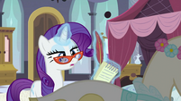 Rarity with notebook S2E25