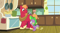 Spike warns Big Mac about Sugar Belle S8E10