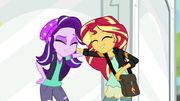 Starlight Glimmer and Sunset Shimmer smiling together EGS3