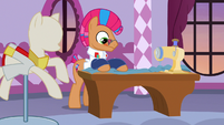 Starstreak using a sewing machine S7E9