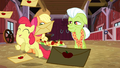 Apple Bloom leaping in joy S3E08.png