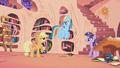 Applejack restraining Rainbow Dash S1E02.png
