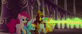 Capper and ponies blasting through with fire MLPTM