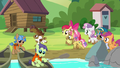 Crusaders and campers having fun at day camp S7E21.png