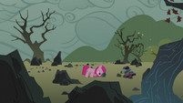 Filly Pinkamena on the rock farm S5E25