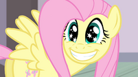 Fluttershy smiling with starry eyes S4E14