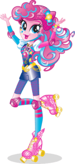 Pinkie Pie Friendship Games bio art