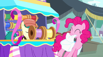 Pinkie Pie being given streamer S4E12