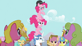 Pinkie Pie clones and Fancypants totem pole S3E3.png