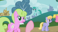 Pinkie Pie counting off ponies S1E07
