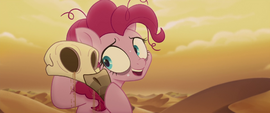 Pinkie Pie picks up a vulture skull MLPTM