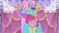 Pinkie Pie walks forward in her hideous dress S1E14.png