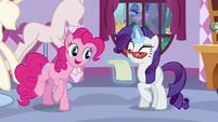 Pinkie asks Rarity what she got S5E14