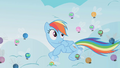Rainbow Dash surrounded by parasprites S1E10.png