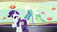 "Rarity introduces ""Water Filly"" dress S5E14"