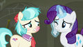 Rarity wiping her face after Coco's sneeze S6E9.png